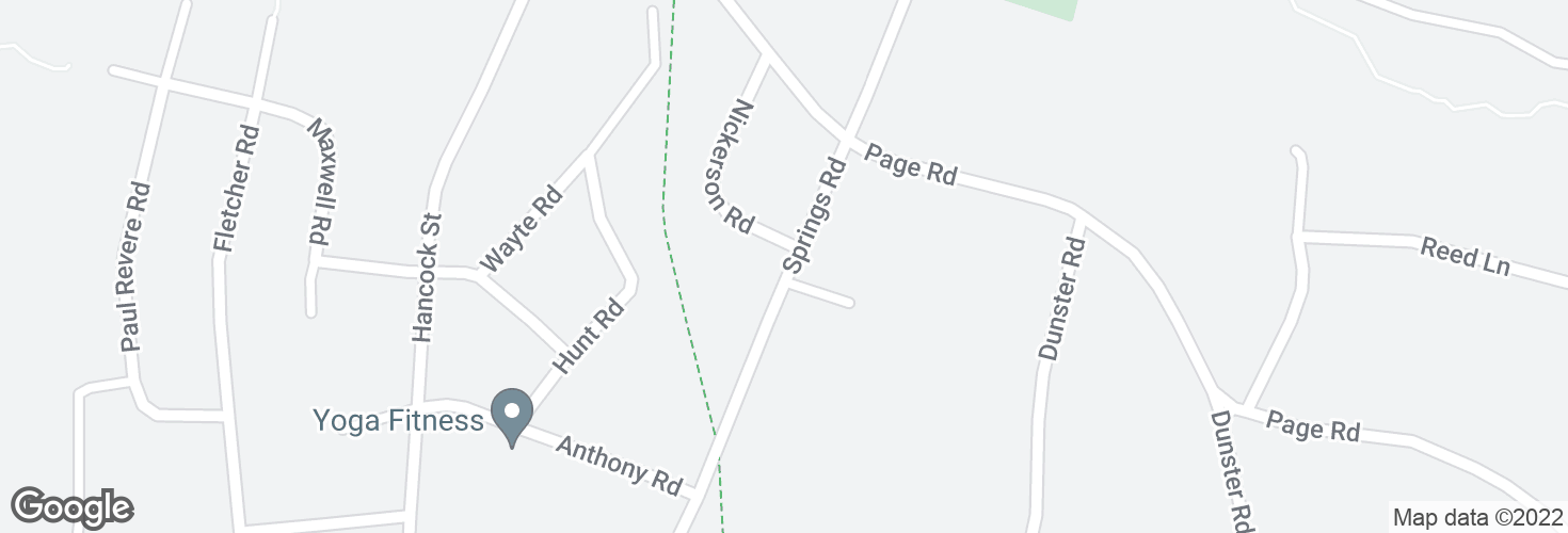 Map of Springs Rd @ Nickerson Rd and surrounding area