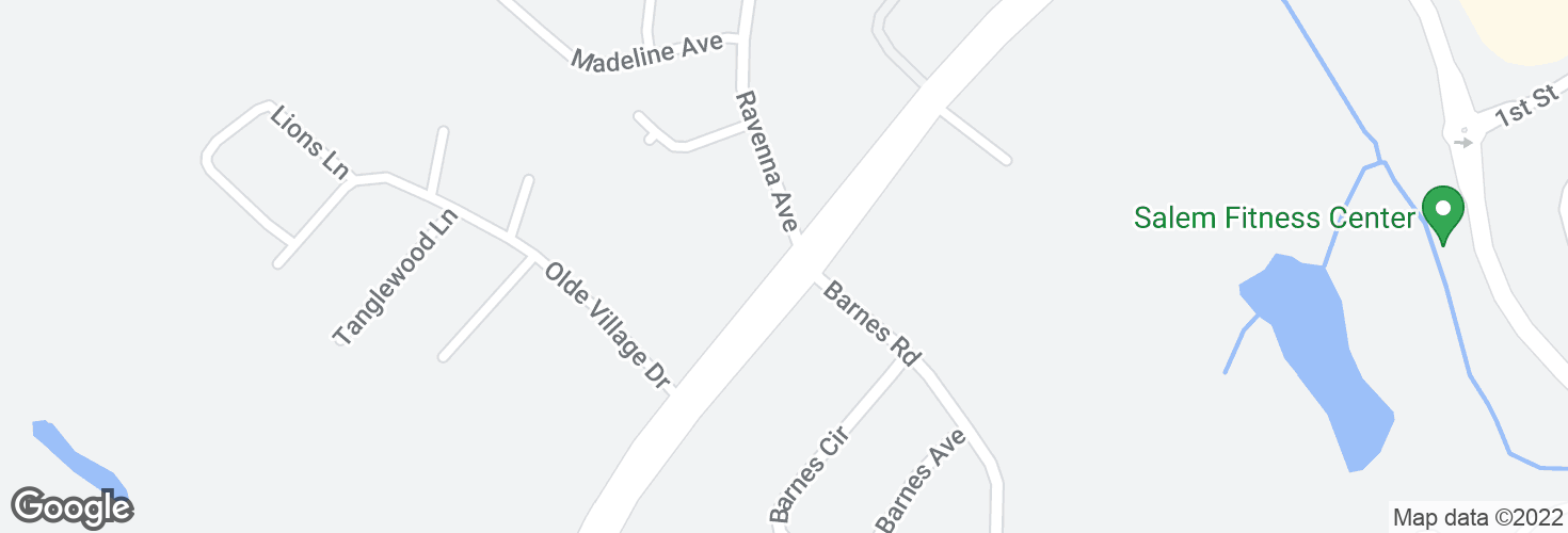 Map of Highland Ave @ Ravenna Ave and surrounding area