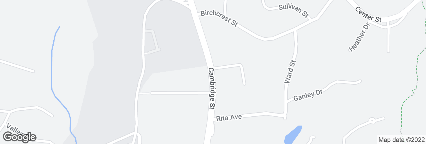 Map of Cambridge St @ Edwards Rd and surrounding area