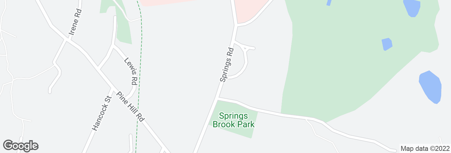 Map of Springs Rd @ Bldg 70 and surrounding area