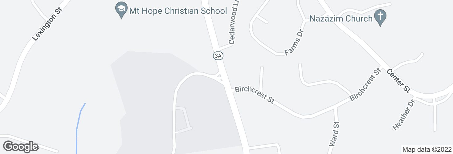 Map of Cambridge St @ Birchcrest St and surrounding area