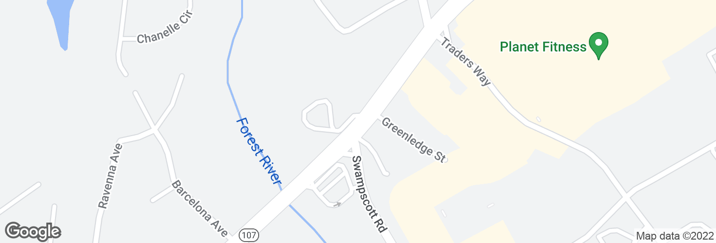 Map of Highland Ave @ Thomas Circle and surrounding area