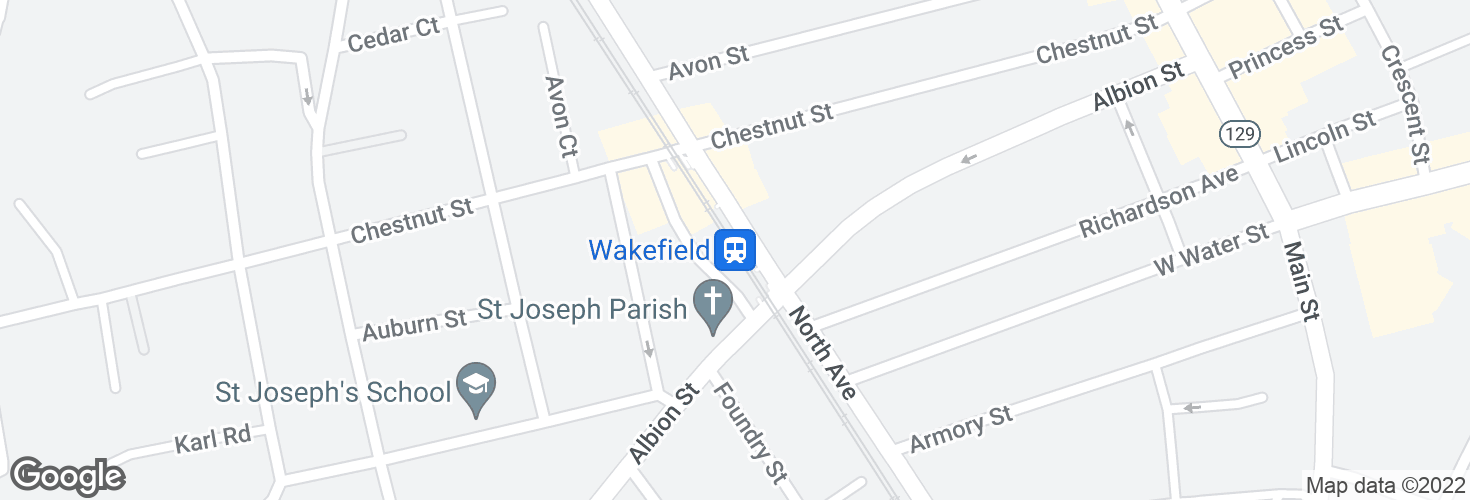 Map of Wakefield and surrounding area