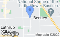 Map of Berkley, MI