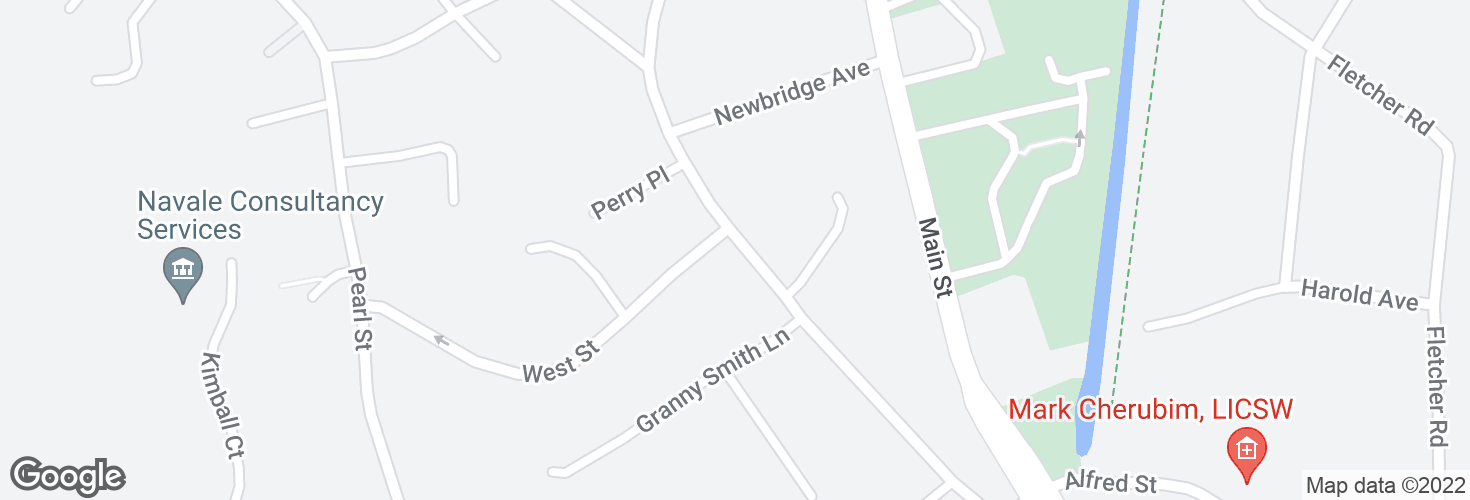 Map of Elm St @ West St and surrounding area