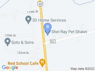 Map of Shel Ray Pet Shalet Dog Boarding options in Bristol | Boarding