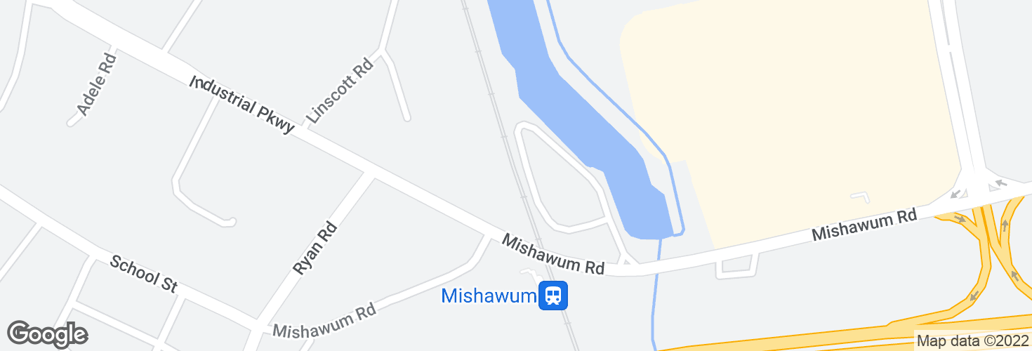 Map of Mishawum and surrounding area