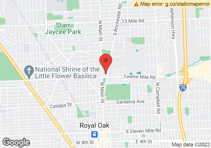 Google Map of 1815 ROCHESTER RD