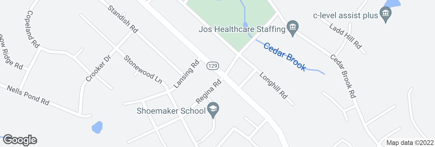 Map of Lynnfield St @ Regina Rd and surrounding area