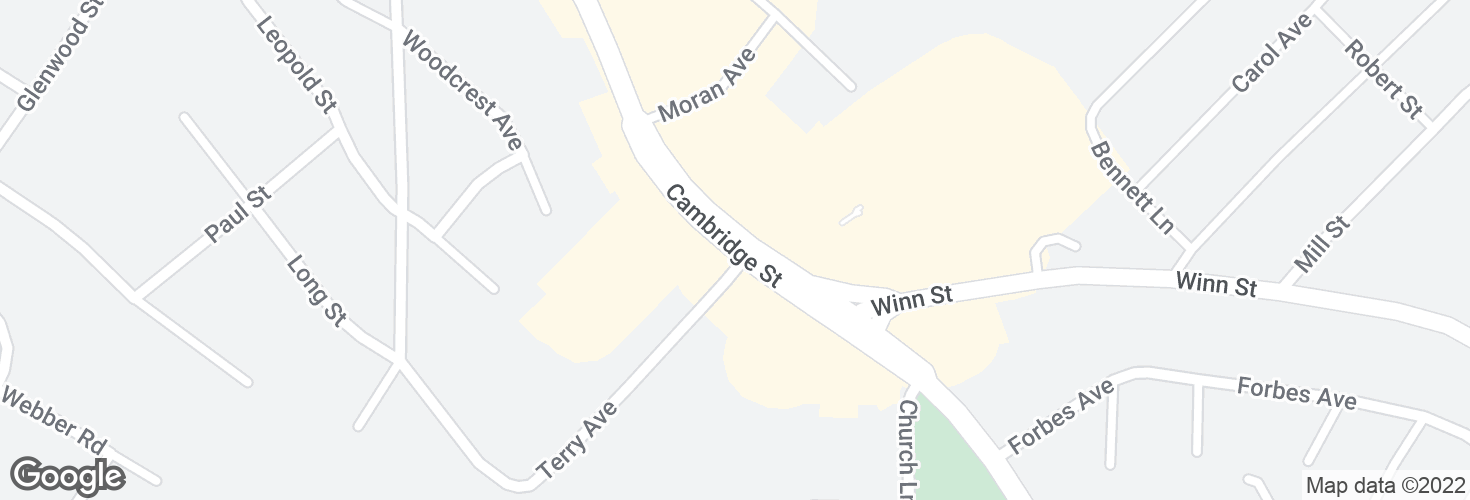 Map of Cambridge St @ Terry Ave and surrounding area