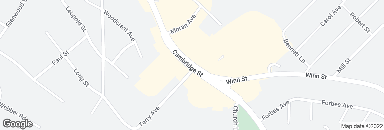 Map of Cambridge St opp Terry Ave and surrounding area
