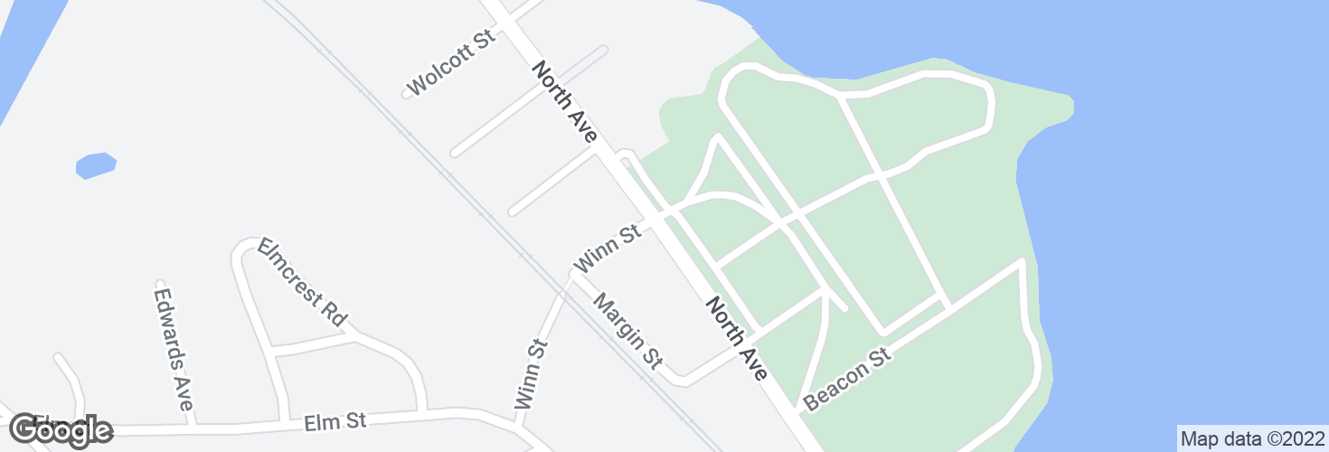 Map of North Ave @ Winn St and surrounding area
