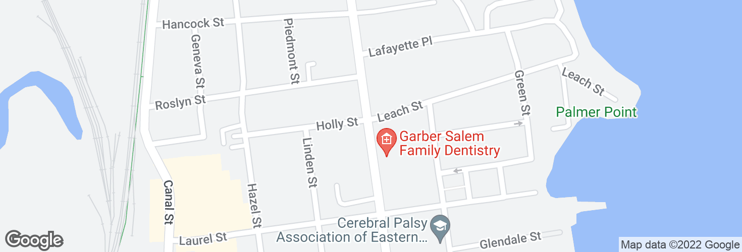 Map of Lafayette St @ Leach St and surrounding area
