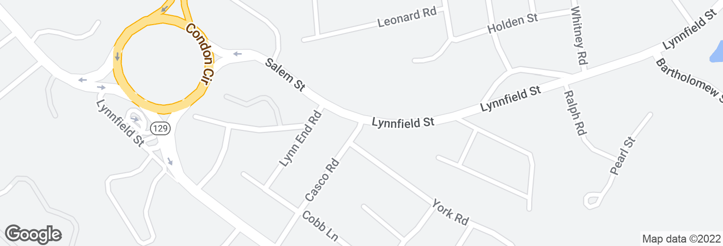 Map of Lynnfield St @ Crestview Pk and surrounding area
