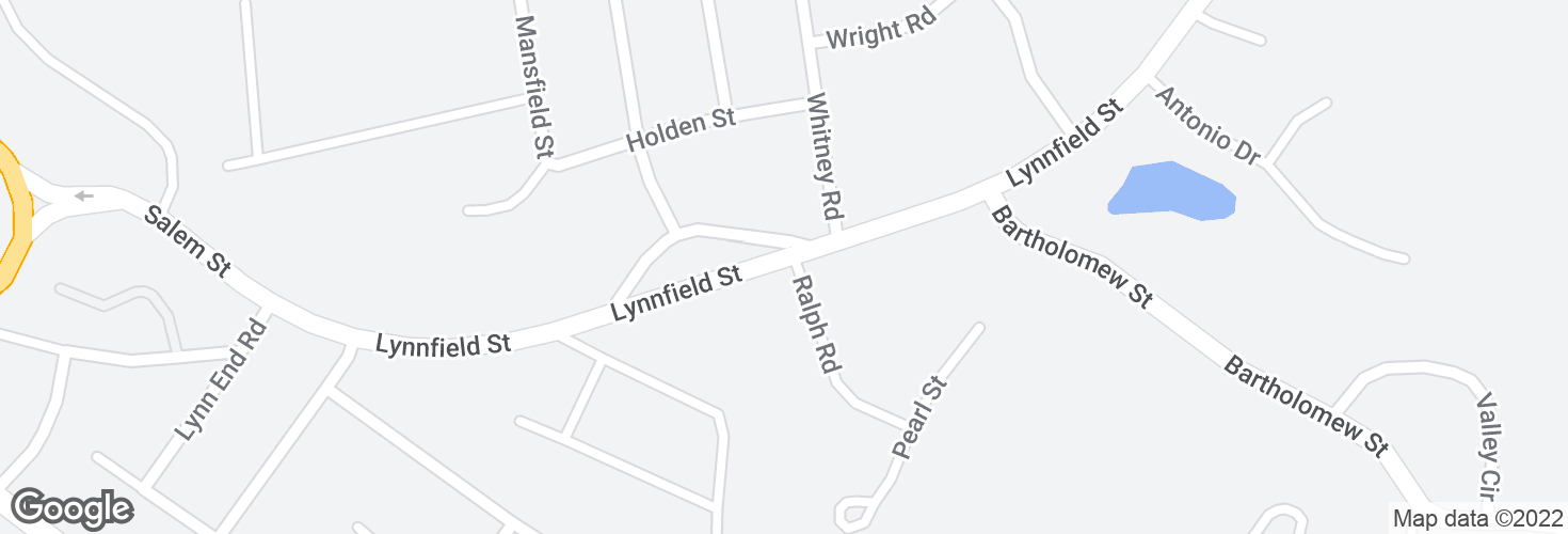 Map of Lynnfield St @ Ralph Rd and surrounding area