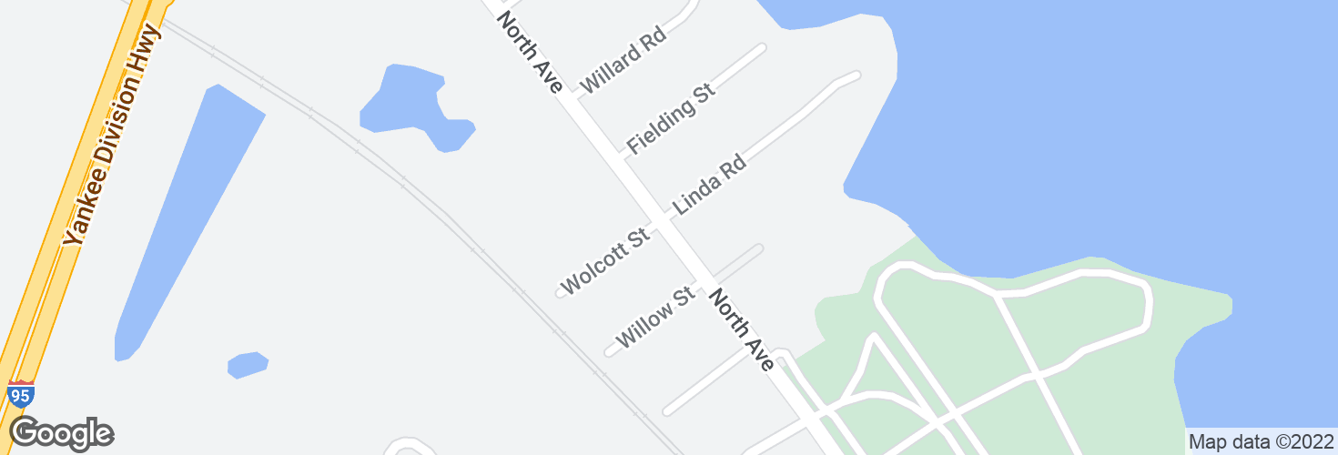 Map of North Ave @ Linda Rd and surrounding area