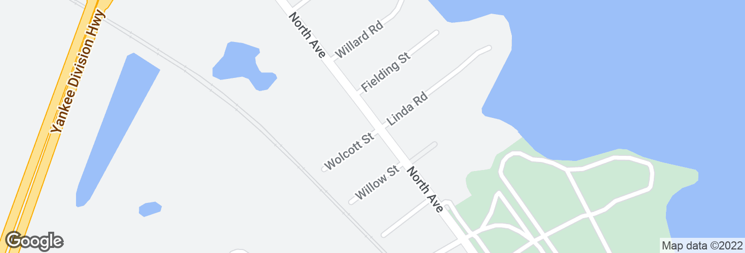 Map of North Ave @ Wolcott St and surrounding area