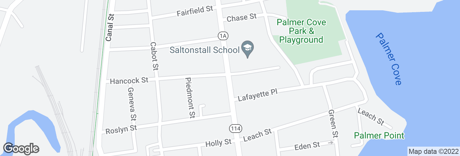 Map of Lafayette St @ Saltonstall Pkwy and surrounding area