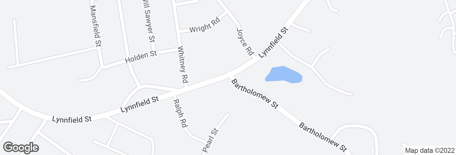 Map of Lynnfield St @ Bartholomew St and surrounding area