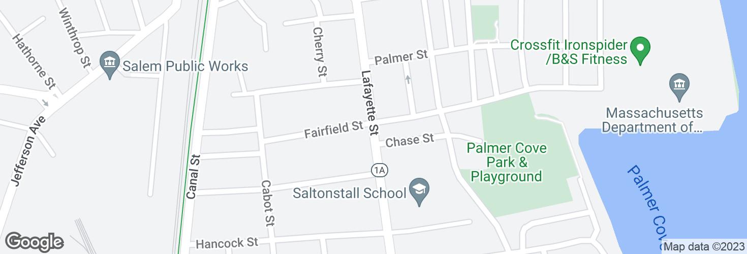 Map of Lafayette @ Leavitt St and surrounding area