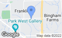 Map of Franklin, MI