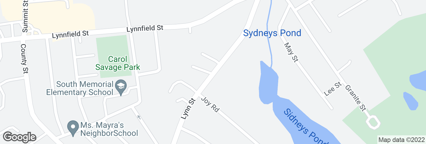 Map of 23 Lynn St and surrounding area