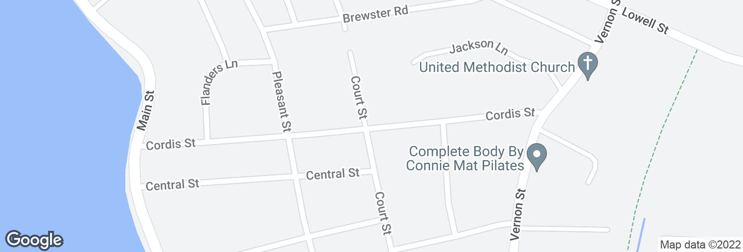 Map of 41 Cordis St @ Court St and surrounding area