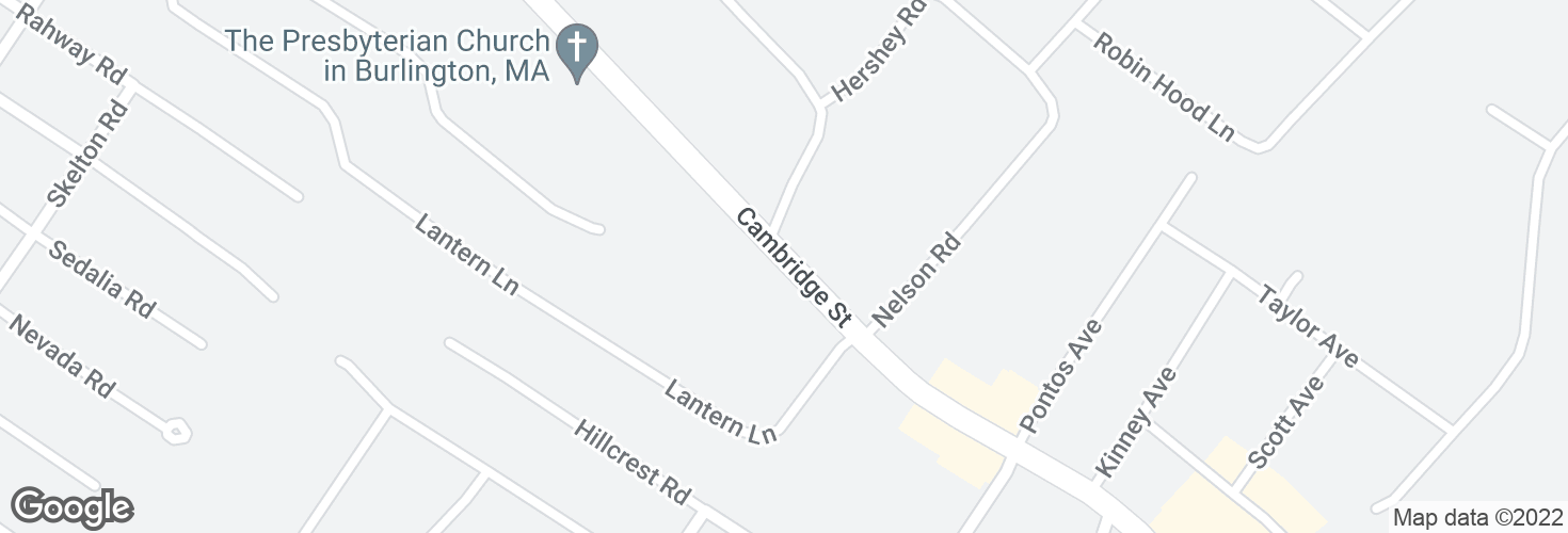 Map of Cambridge St opp Chestnut Ave and surrounding area