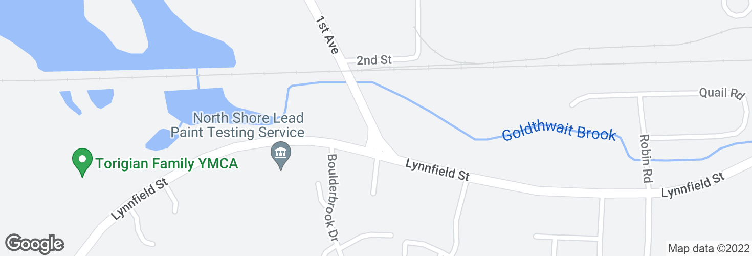 Map of First Ave @ Lynnfield St and surrounding area