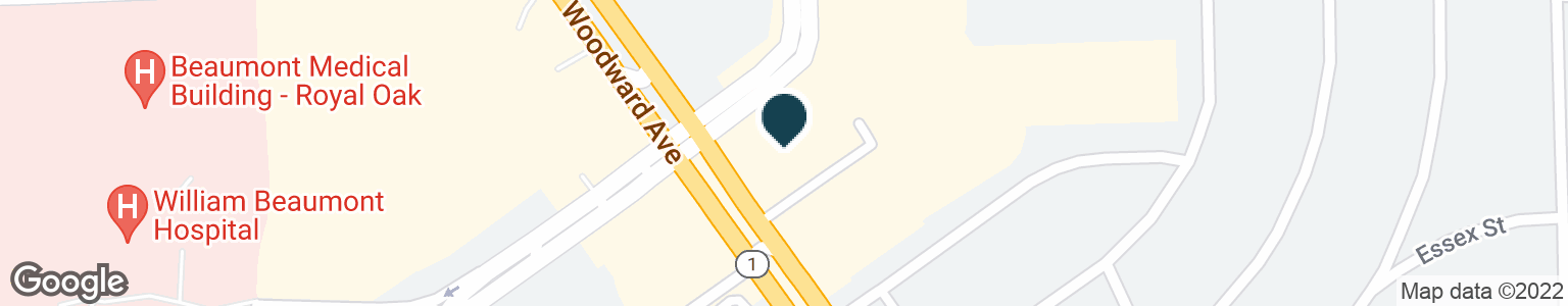 Google Map of30852 WOODWARD AVE