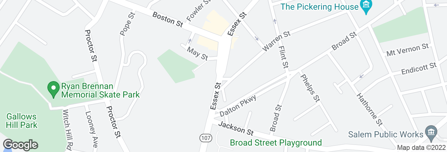 Map of Essex St @ Warren St and surrounding area