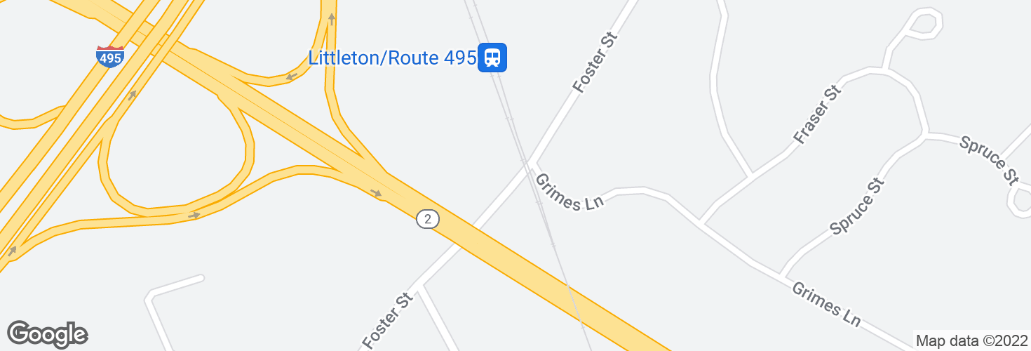 Map of Littleton/Rte 495 and surrounding area