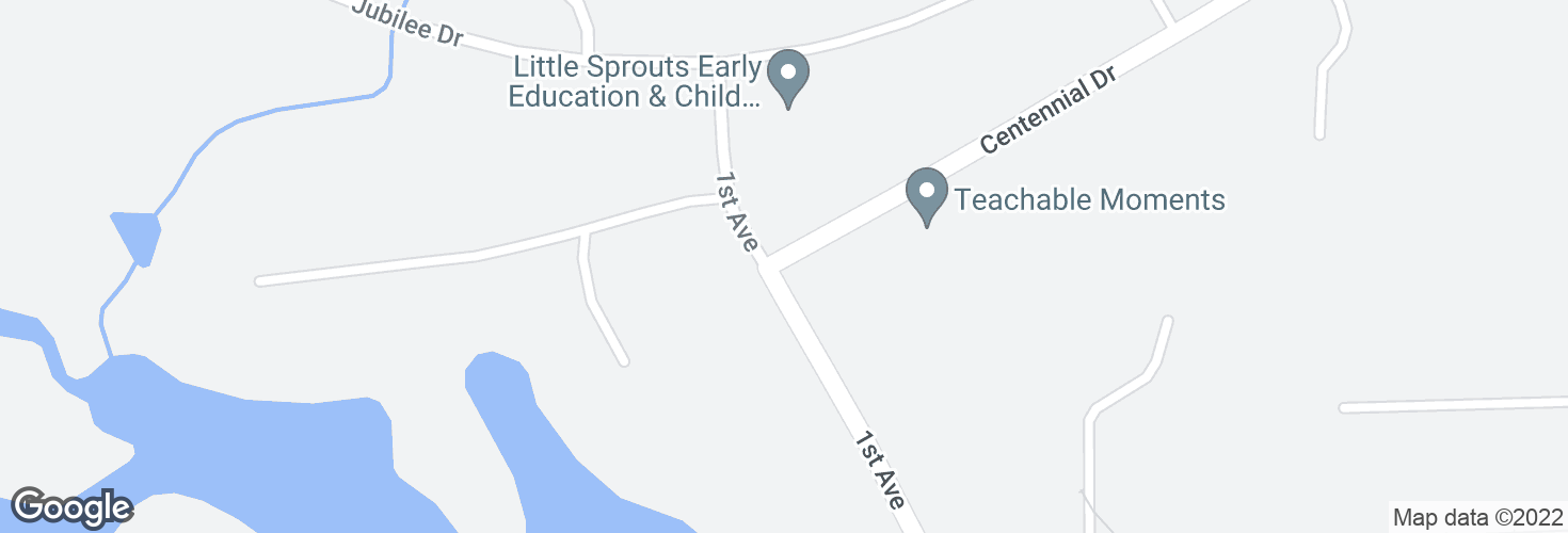 Map of Centennial Dr @ First Ave and surrounding area