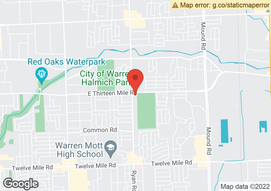 Google Map of 4010 E 13 MILE RD