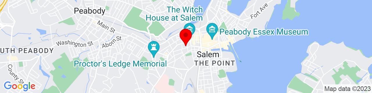 Google Map of 42.519996, -70.89997199999999