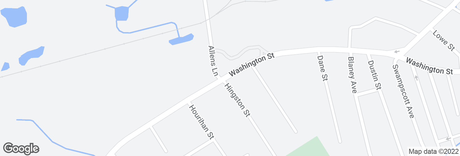 Map of Washington St @ Hingston St and surrounding area