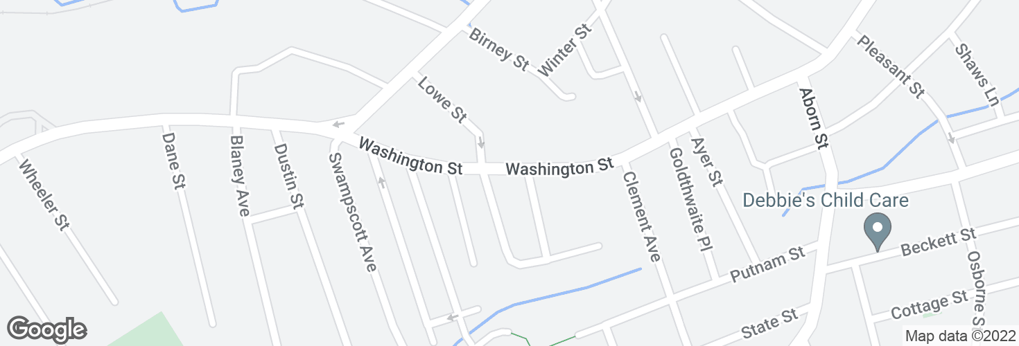 Map of Washington St @ Bresnahan St and surrounding area