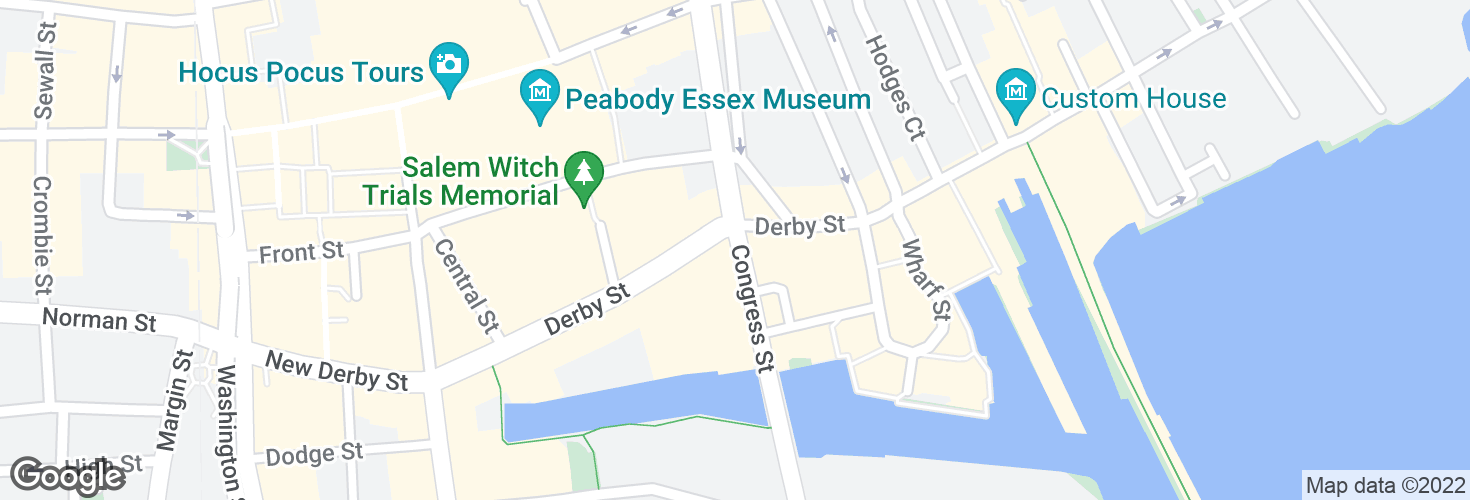 Map of Congress St @ Derby St and surrounding area