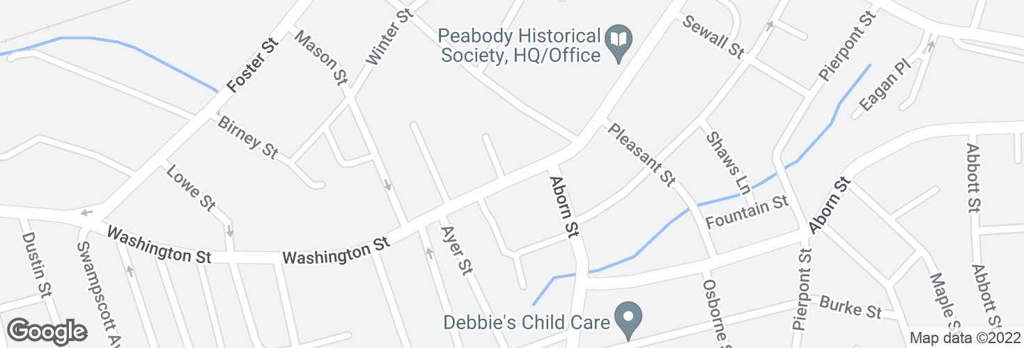 Map of Washington St @ Lincoln Pl and surrounding area