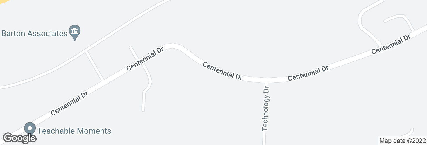 Map of 5 Centennial Dr and surrounding area