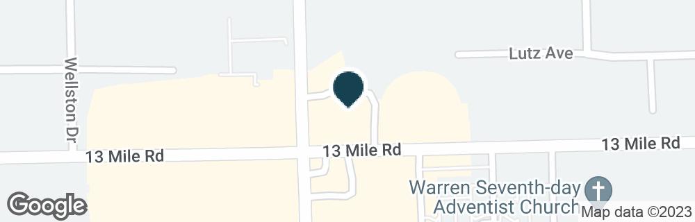 Google Map of11635 E 13 MILE RD