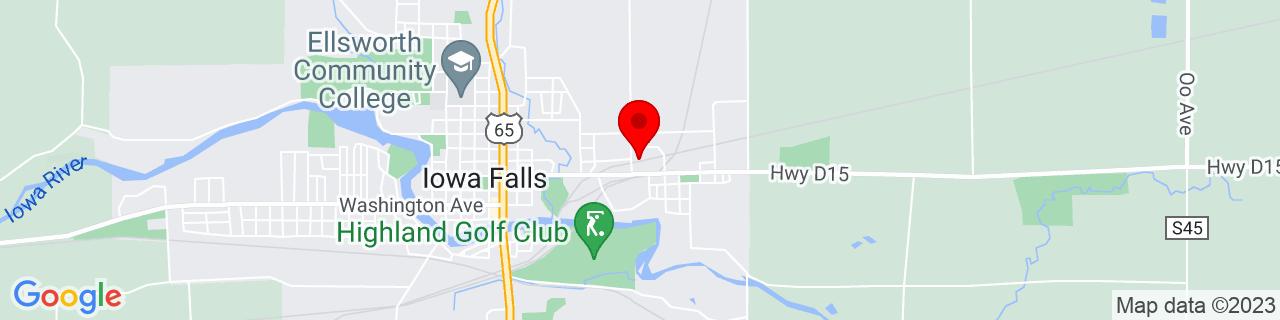 Google Map of 42.5224799, -93.2513141