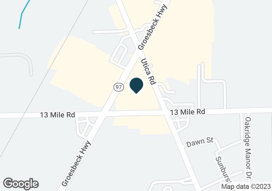 Google Map of31100 GROESBECK HWY