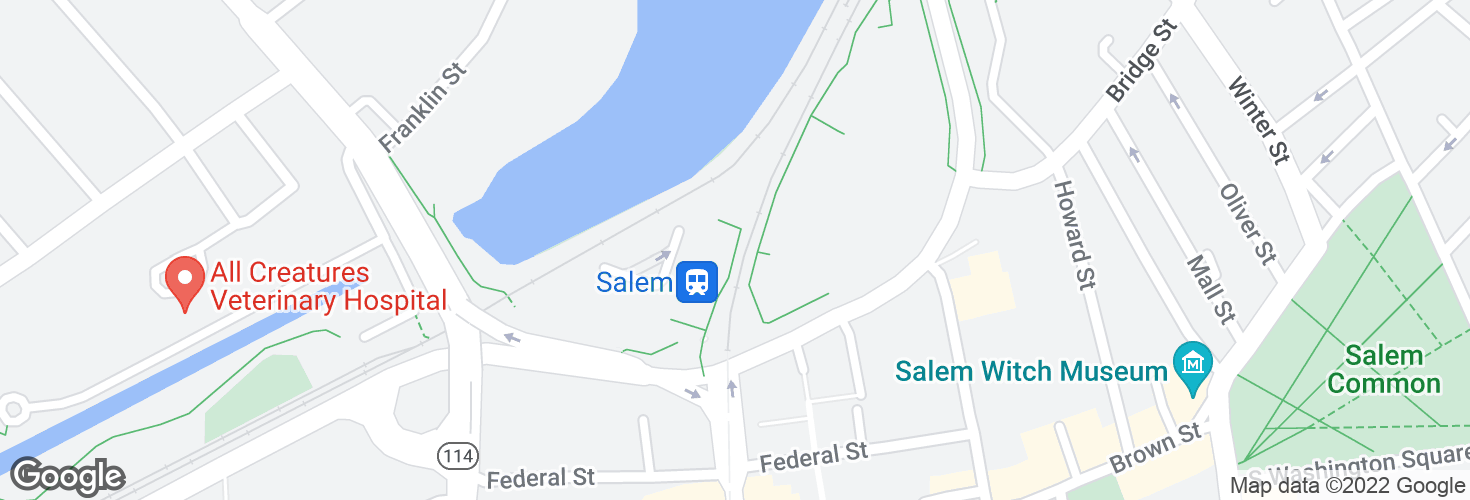 Map of Salem and surrounding area