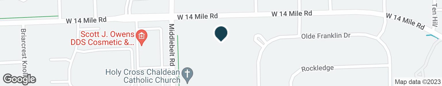 Google Map of32910 MIDDLEBELT RD