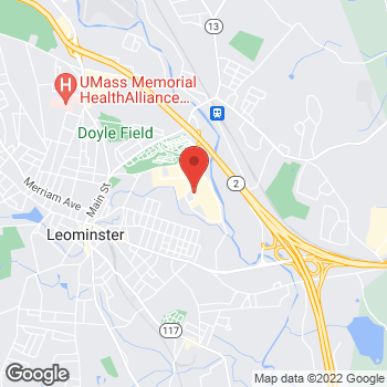 Map of Panera Bread at 100 Commercial Road, Leominster, MA 01453