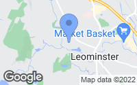 Map of Leominster, MA