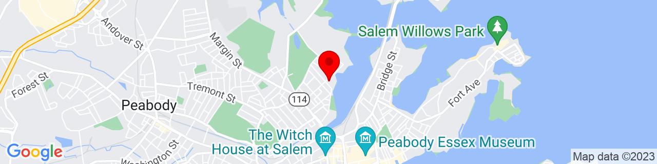 Google Map of 42.530626, -70.89832