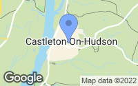 Map of Castleton-on-Hudson, NY