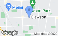 Map of Clawson, MI
